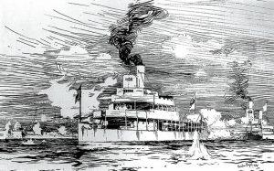 Sketch of Gunboat Melik