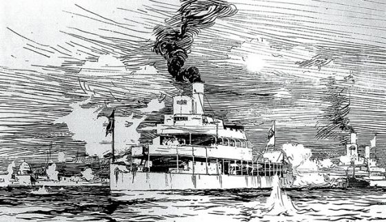 Sketch of Gunboat Melik