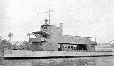 Gunboat Melik underway